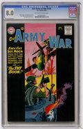 Silver Age (1956-1969):War, Our Army at War #134 (DC, 1963) CGC VF 8.0 Off-white to white pages....
