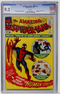 The Amazing Spider-Man #8 (Marvel, 1964) CGC NM- 9.2 White pages