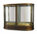 Furniture , An English Mahogany and Brass Display Cabinet. Co-Operative Wholesale Society, Ltd., Salford, Lancashire, England. Circa 1...