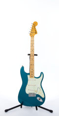 Musical Instruments:Electric Guitars, 1974 Fender American Stratocaster Teal Electric Guitar #528402....