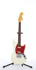 Musical Instruments:Electric Guitars, 1966/67 Fender American Fender Mustang Olympic White Electric Guitar #138779....