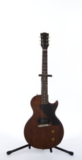 Musical Instruments:Electric Guitars, Vintage Gibson Les Paul Jr. Cherry Electric Guitar # N/A....
