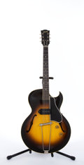 Musical Instruments:Electric Guitars, Vintage Gibson ES-225T Sunburst Archtop Semi-Hollow Body ElectricGuitar #W3142....