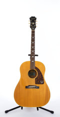 Musical Instruments:Electric Guitars, 1960's Epiphone Texan FT-79N Natural Acoustic Guitar #809841....
