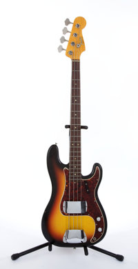 Circa 1966 Fender American Precision Sunburst Electric Bass Guitar #147569