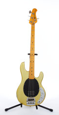 Musical Instruments:Bass Guitars, Circa 1977 Music Man Sting Ray Metallic Olive Electric Bass Guitar#B004878....