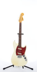 Musical Instruments:Electric Guitars, Circa 1965 Fender American Duo Sonic II Olympic White ElectricGuitar #108893....
