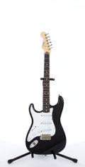 Musical Instruments:Electric Guitars, 1994 Fender Left-Handed Stratocaster Black Electric Guitar#T005218...