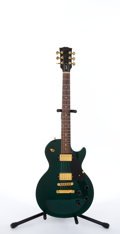 Musical Instruments:Electric Guitars, 1998 Gibson Les Paul Studio Emerald Green Electric Guitar#90148424...