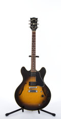 Musical Instruments:Electric Guitars, 1980 Gibson ES-335 Pro Tobacco Sunburst Semi-Hollow Body Electric#81370063...