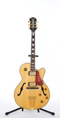 Musical Instruments:Electric Guitars, 2006 EPIPHONE JOE PASS Emperor II NA New Old Stock Natural ArchtopJazz Electric Guitar #U06040508....