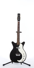 Musical Instruments:Electric Guitars, 1960's DANELECTRO DC-1 Black Electric Guitar #4082...