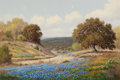 Texas:Early Texas Art - Regionalists, PALMER CHRISMAN (American, 1913-1984). Bluebonnets inSpring. Oil on canvas. 24 x 36 inches (61.0 x 91.4 cm). Signedlow...