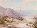 Texas:Early Texas Art - Regionalists, FREDERICK JARVIS (American, 1868-1944). Desert Landscape.Oil on canvas . 18 x 24 inches (45.7 x 61.0 cm). Signed lower ...