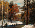 Texas:Early Texas Art - Regionalists, DWIGHT HOLMES (American, 1900-1986). Winter Landscape, 1953.Oil on canvas board . 17-1/2 x 21-1/2 inches (44.5 x 54.6 c...