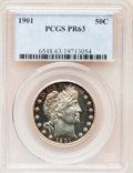 Proof Barber Half Dollars, 1901 50C PR63 PCGS....
