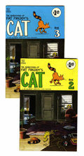 Modern Age (1980-Present):Alternative/Underground, Fat Freddy's Cat #2 and 3 Later Printing Group (Rip Off Press,1980s) Condition: Average FN.... (Total: 2 Comic Books)