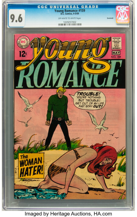 Young Romance #159 Savannah pedigree (DC, 1969) CGC NM+ 9.6 Off-white to white pages....