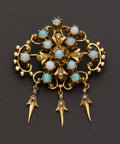Estate Jewelry:Brooches - Pins, Opal, Pearl & Gold Brooch. ...