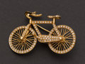 Estate Jewelry:Brooches - Pins, Gold & Diamond Bicycle Brooch. ...