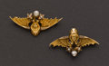 Estate Jewelry:Brooches - Pins, Two - Pearl & Gold Egyptian Revival Pins. ... (Total: 2 Items)