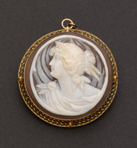 Exquisite Gold Shell Cameo