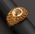 Estate Jewelry:Rings, A Very Nice Citrine & Gold Ring. ...