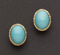 Estate Jewelry:Earrings, Persian Turquoise & Gold Earrings. ...