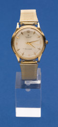 Timepieces:Wristwatch, Hamilton 14k Gold Thin-o-matic Wristwatch. ...