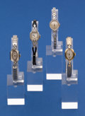 Timepieces:Wristwatch, Four - Ladies 14k Gold Wristwatches Non Gold Bands. ... (Total: 4Items)