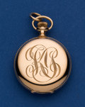 Timepieces:Pocket (post 1900), Waltham 14k Gold 0 Size Hunter's Case Pocket Watch. ...