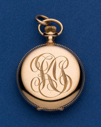 Waltham 14k Gold 0 Size Hunter's Case Pocket Watch