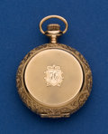 Timepieces:Pocket (post 1900), Longines 0 Size 14k Gold Hunter's Case Pocket Watch. ...