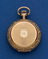 Longines 0 Size 14k Gold Hunter's Case Pocket Watch