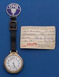 Timepieces:Pocket (post 1900), Hamilton 992 B Pocket Watch With Fob And Inspector's Papers. ...