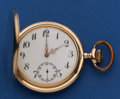 Timepieces:Pocket (post 1900), Swiss 14k Gold 53 mm Hunter's Case Pocket Watch. ...