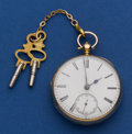 Timepieces:Pocket (pre 1900) , John Cross London 18k Gold Lever Fusee. ...