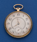 Timepieces:Pocket (post 1900), Silvana 14k Gold 49 mm Pocket Watch. ...