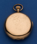 Timepieces:Pocket (post 1900), Swiss Gold Plate 55 mm Quarter Hour Repeater Pocket Watch. ...