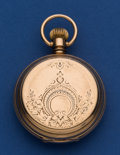Timepieces:Pocket (pre 1900) , Elgin 18 Size B.W. Raymond Key Wind Unmarked Gold Hunter's CasePocket Watch. ...