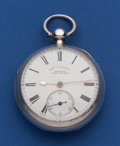Timepieces:Pocket (pre 1900) , Charles Cowell Interesting Sterling Lever Fusee From The Isle OfMan Pocket Watch. ...
