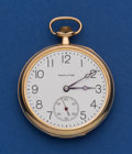 Timepieces:Pocket (post 1900), Hamilton 14k Gold 19 Jewel Grade 900 Pocket Watch. ...