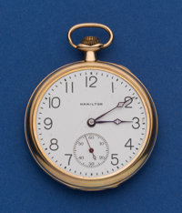 Hamilton 14k Gold 19 Jewel Grade 900 Pocket Watch