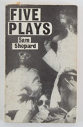 Books:First Editions, Sam Shepard. Five Plays....