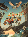 Original Comic Art:Paintings, Carl Barks Vacation Panel Painting Original Art (1972)....