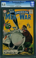 Silver Age (1956-1969):War, All-American Men of War #87 (DC, 1961) CGC VG 4.0 Cream to off-white pages.