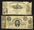 Confederate Notes:Group Lots, Four Different Criswell Numbers.. ... (Total: 4 notes)