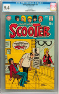 Bronze Age (1970-1979):Humor, Swing with Scooter #27 Savannah pedigree (DC, 1970) CGC NM 9.4White pages....