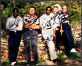 Football Collectibles:Photos, Payton, Ditka, Dorsett, Unitas and Staubach Multi SignedPhotograph. ...