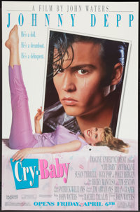 """Cry-Baby (Universal, 1990). One Sheet (29.5"""" X 45"""") SS Advance. Comedy"""